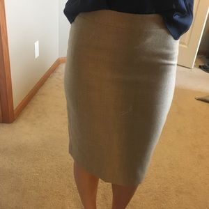 J. Crew tan wool pencil skirt